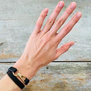 ♥️ Michael Kors ♥️ Black Leather Wrap Bracelet